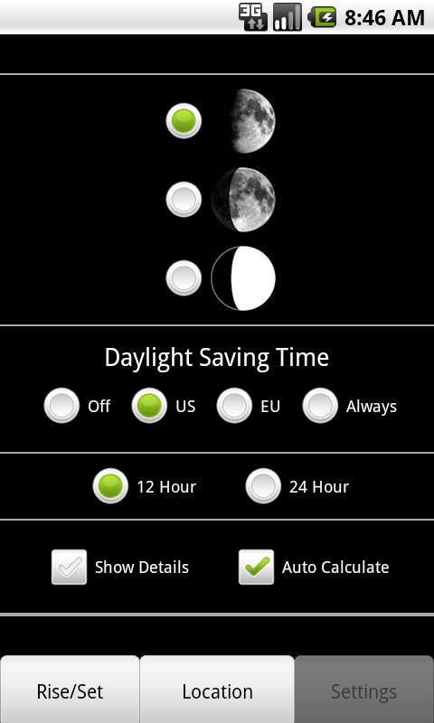 Moon Phase Calculator- screenshot