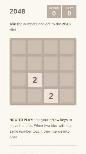 2048 Plus Number puzzle game