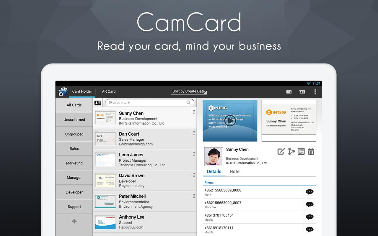 Camcard business card reader android apps on google play for Business card app for android