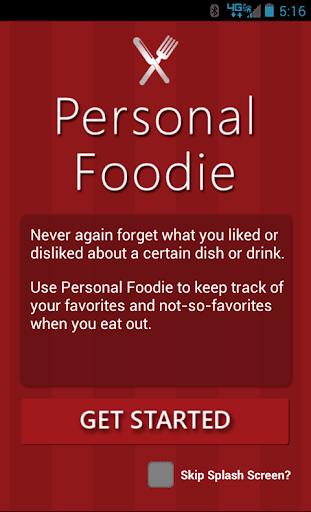 Personal Foodie