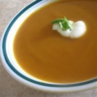 Sweet Potato and Carrot Soup with Cardamom