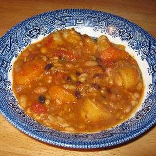 Vegan Bean Stew And Dumplings