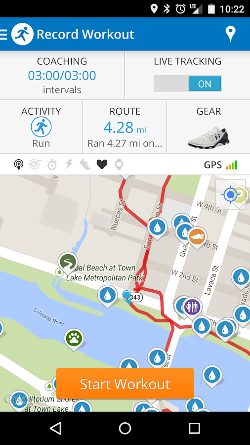 Run with Map My Run- screenshot