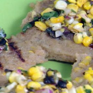 Grilled Grit Cakes With Grilled Corn And Grilled Corn-green Chilli Relish