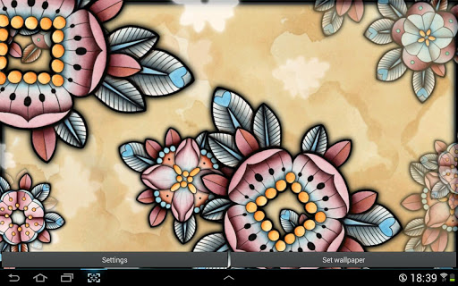 Brown Flowers Live Wallpaper