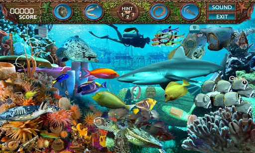 【免費解謎App】Deep Blue Sea - Hidden Objects-APP點子