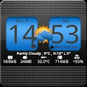 FlipClock Blue Magic Dark logo