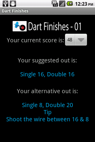 Dart Finishes - screenshot