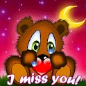 I Miss You Teddy Bear n Moon logo