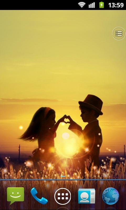 Sparkling Love Live Wallpaper Screenshot