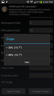 Fire weather calculator - screenshot thumbnail