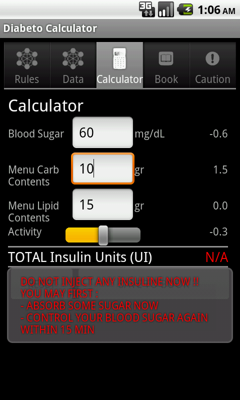 DIABETooL Insulin Calc- screenshot