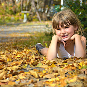 by Char Robertson - Babies & Children Child Portraits ( laying down, girl, beautiful, smile )