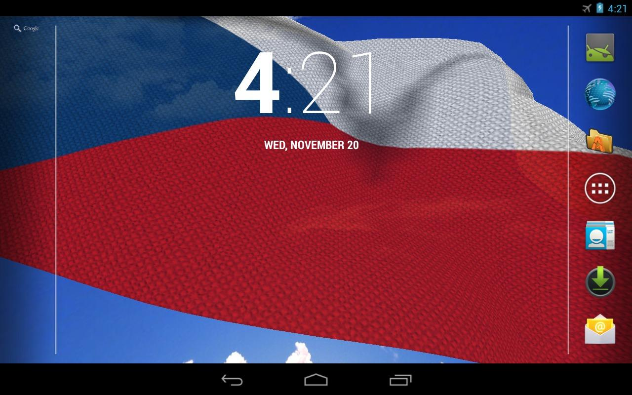 3D Czech Flag Live Wallpaper - screenshot