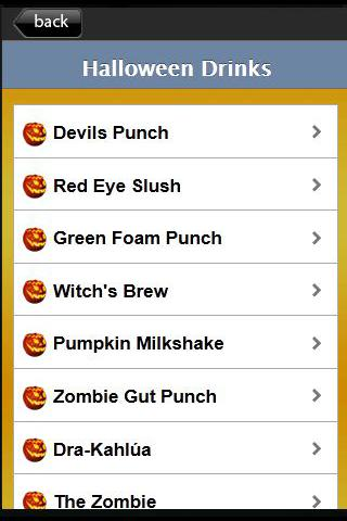Halloween Recipes - screenshot