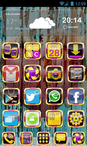 GLE theme Yellow Purple