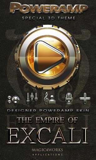 Poweramp skin Excali