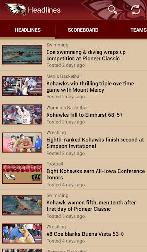 Coe College Kohawk Athletics