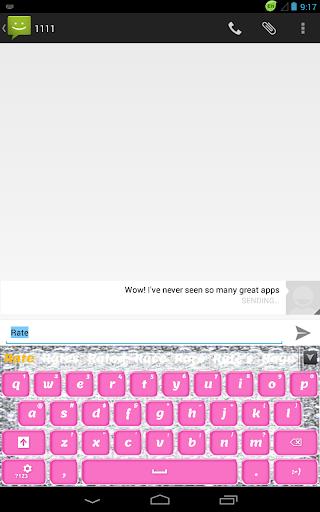 【免費個人化App】粉红钻石键盘-APP點子