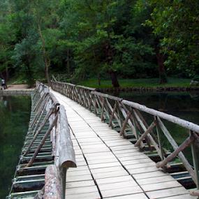 wooden link by Joseph Escopin - Buildings & Architecture Bridges & Suspended Structures ( wooden, zaragoza, spain, pwc89 bridges, river, bridge )