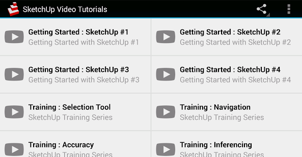 SketchUp Video Tutorials- screenshot thumbnail