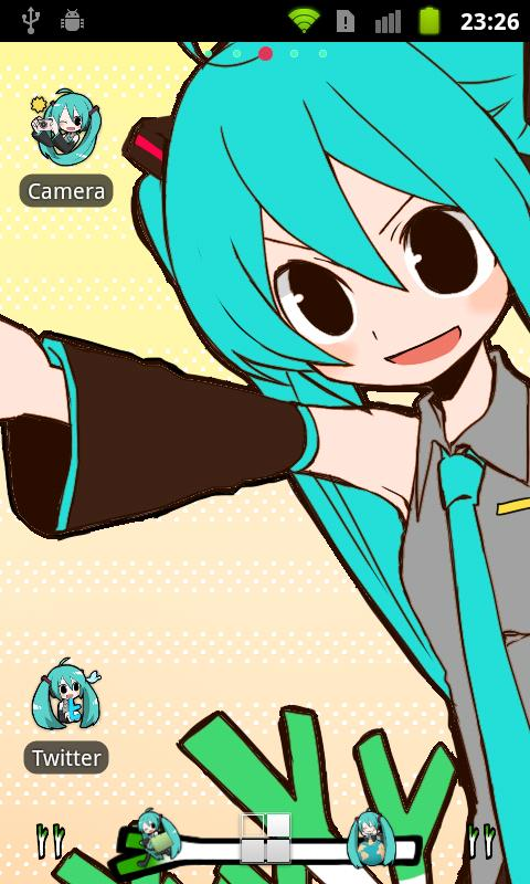 ADW Theme -Miku Hatsune-- screenshot