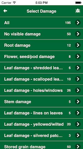 Screenshots for MyPestGuide  Crops