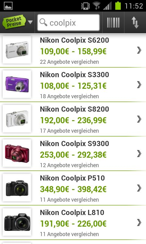 Pocket Preise - Preisvergleich - screenshot