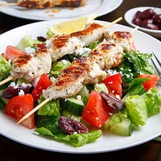 Chicken Souvlaki Salad.