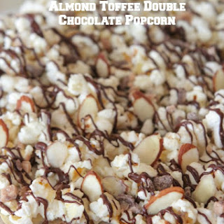 Almond Toffee Double Chocolate Popcorn.