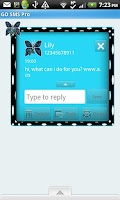 Screenshot of GO SMS THEME/BluePolkaDot