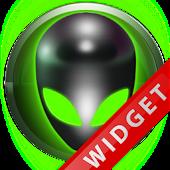 Poweramp Widget Green Alien