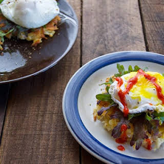 Poached Eggs on Hash Browns.