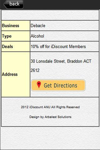 iDiscount ANU - screenshot