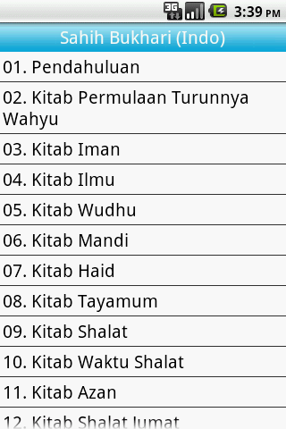 Sahih Bukhari Indonesian Free - screenshot