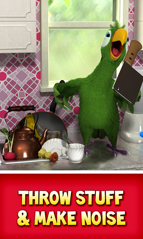 Screenshots of Talking Pierre the Parrot for iPhone