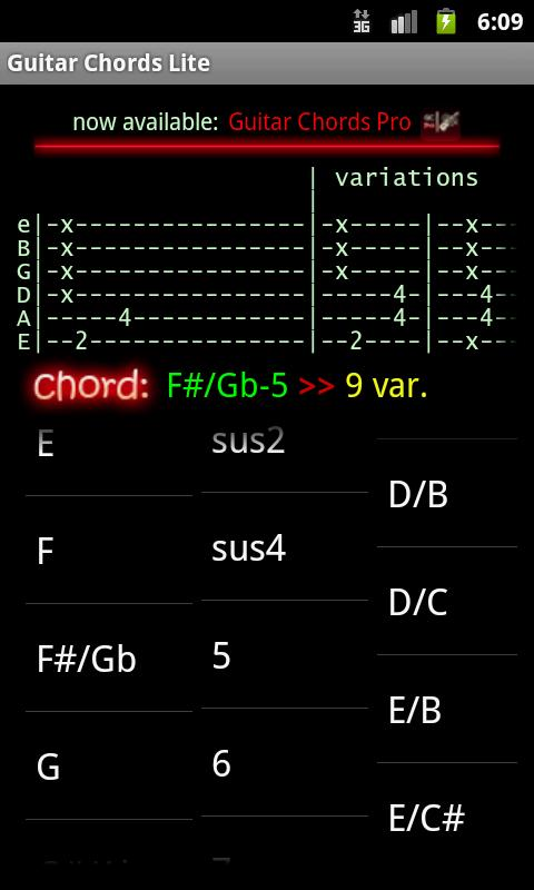 Guitar Chords Lite- screenshot