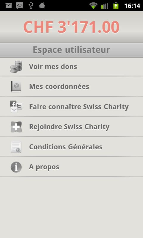 Swiss Charity- screenshot