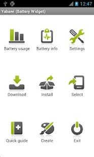 Yabawi (Battery Widget)- screenshot thumbnail