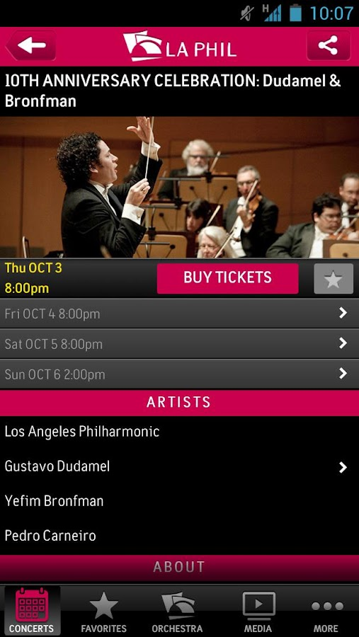 LA Phil - screenshot