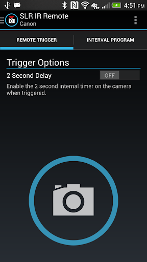 SLR Camera IR Remote app (apk) free download for Android/PC/Windows screenshot