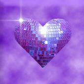Purple Sparkle Hearts Live
