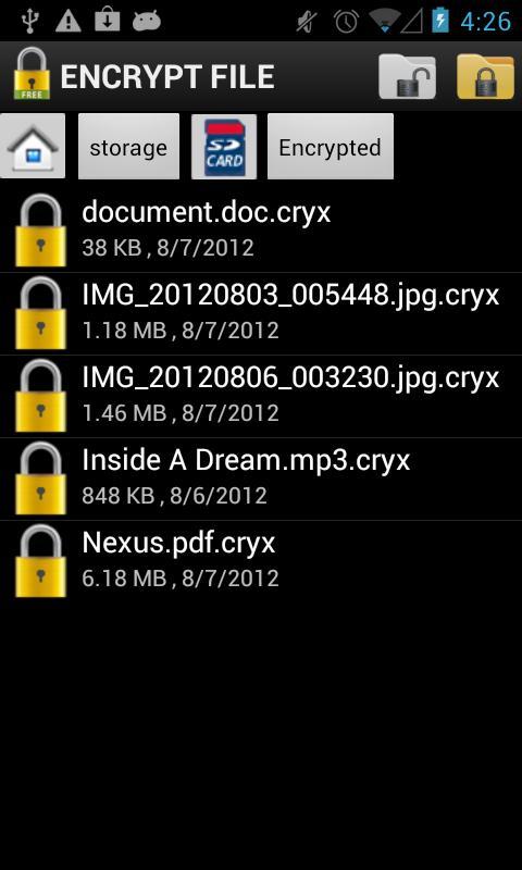 encryption essay file storage