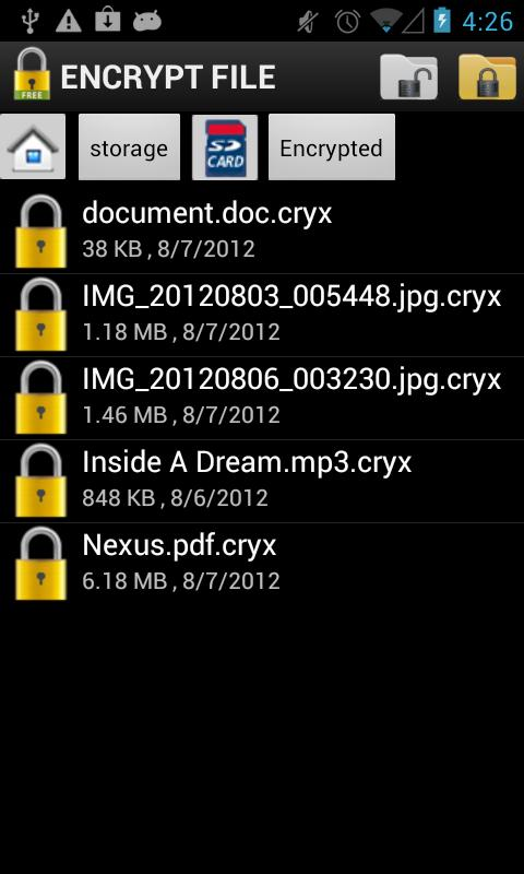 Encrypt File Free- screenshot