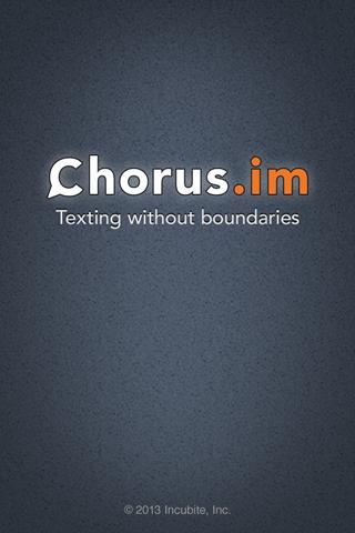 Chorus.im Web Messenger - screenshot