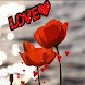 Beautiful Red Love Flowers LWP