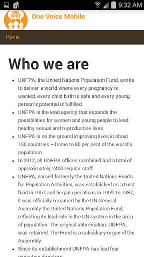 UNFPA One Voice