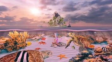 Screenshot of Ocean Aquarium 3D: Turtle Isle