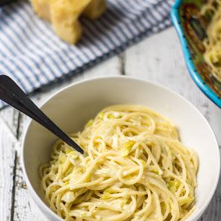 Creamy Leek Spaghetti.