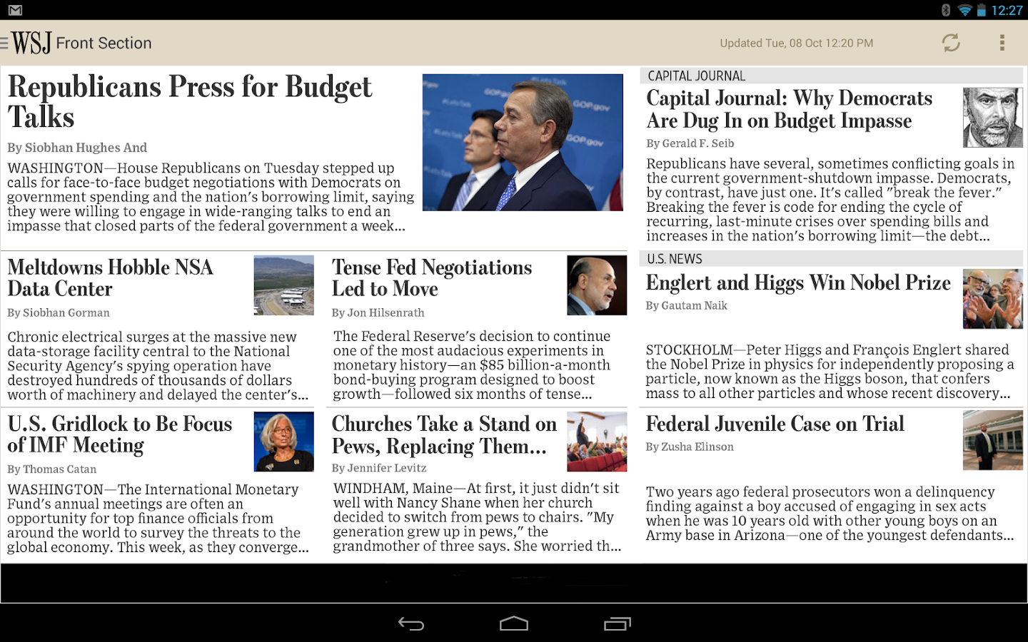 The Wall Street Journal - screenshot